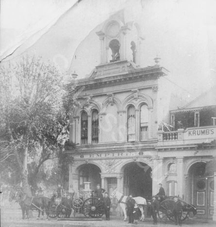 Historic photo of the original Empire Firehouse (image from the Sourisseau Academy)