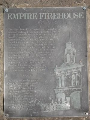 Empire Firehouse historic marker (image from Historical Marker Database)
