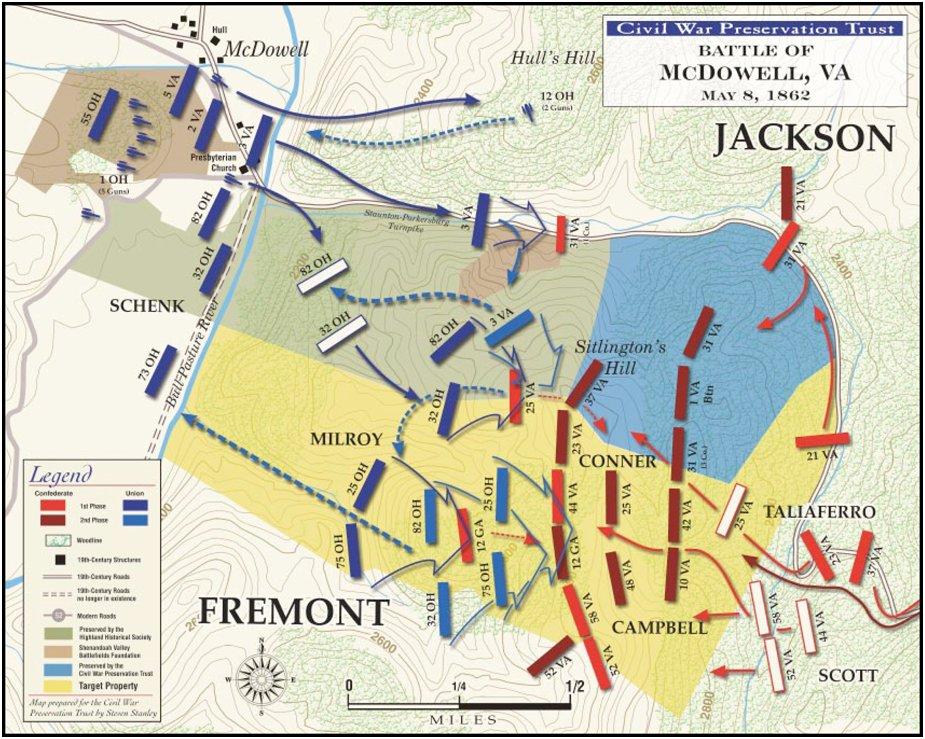 Battle of McDowell map