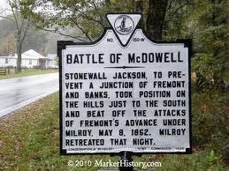 Battle of McDowell battle marker sign