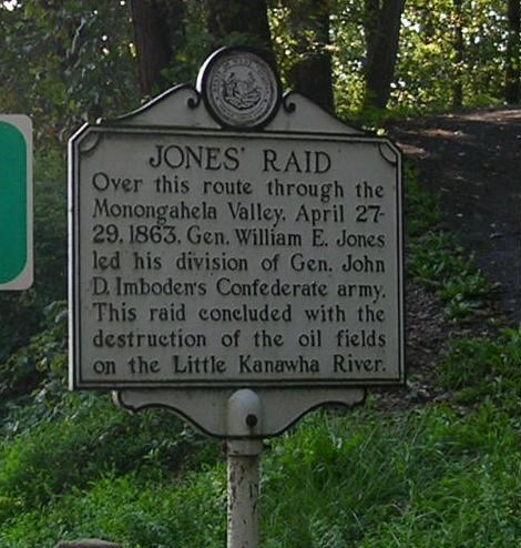 This historic marker is right next to the Marion County line road sign on Highway 19.