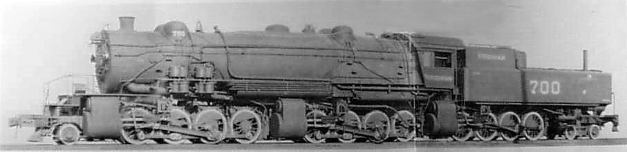 Class XA Baldwin Triplex #700 (2-8-8-8-4 Wheel Configuration)