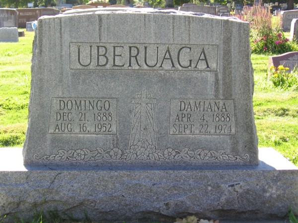 Uberuaga Headstone from 1952