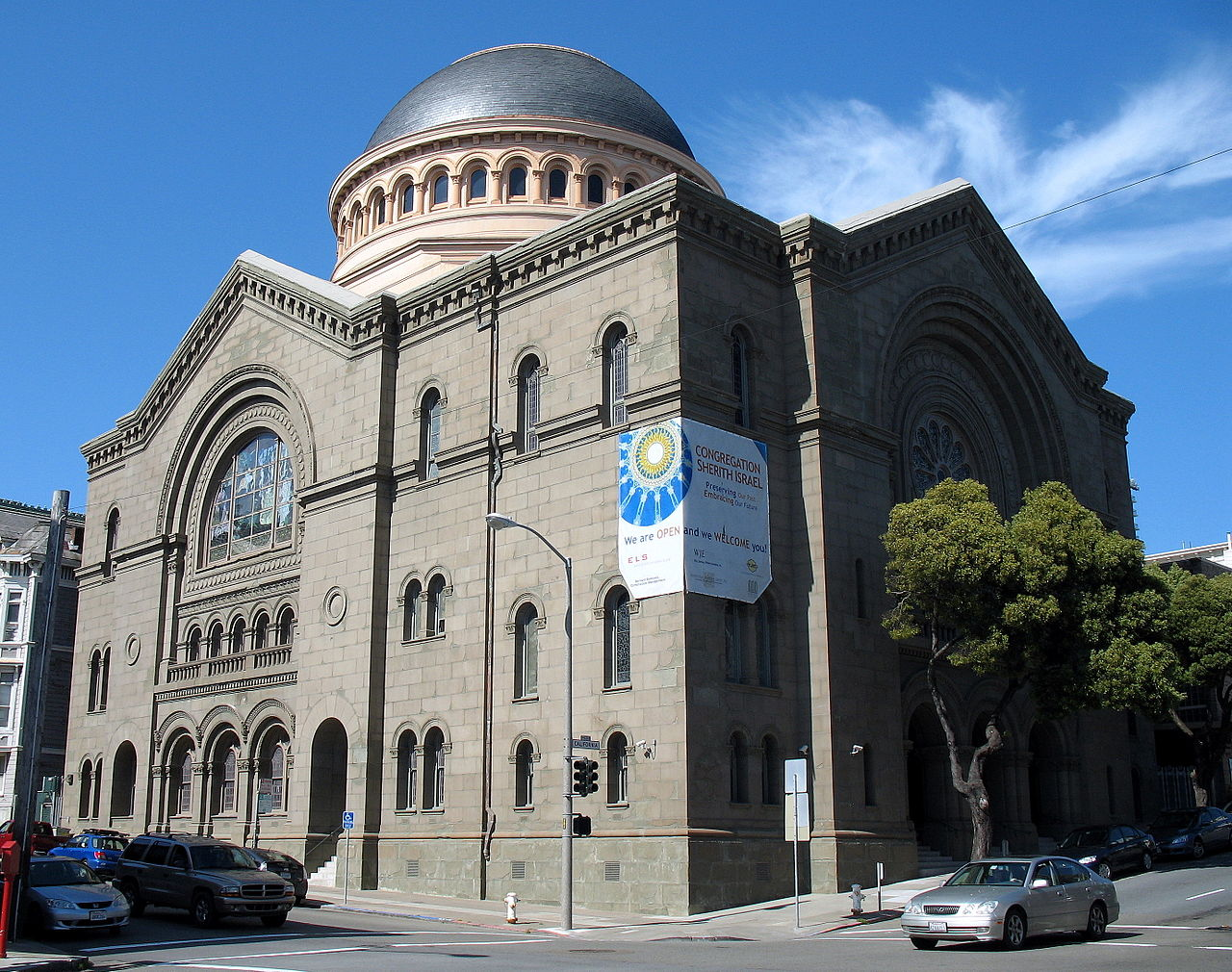 Congregation Sherith Israel was built in 1905 and is home to a Reform Jewish community.