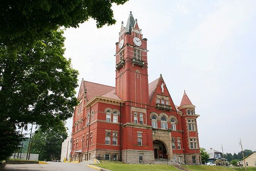 Current display of Doddridge County Courthouse built in 1904 by Charles Fulton