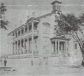 Undated photo of what was most likely the main building of what was Straight University.