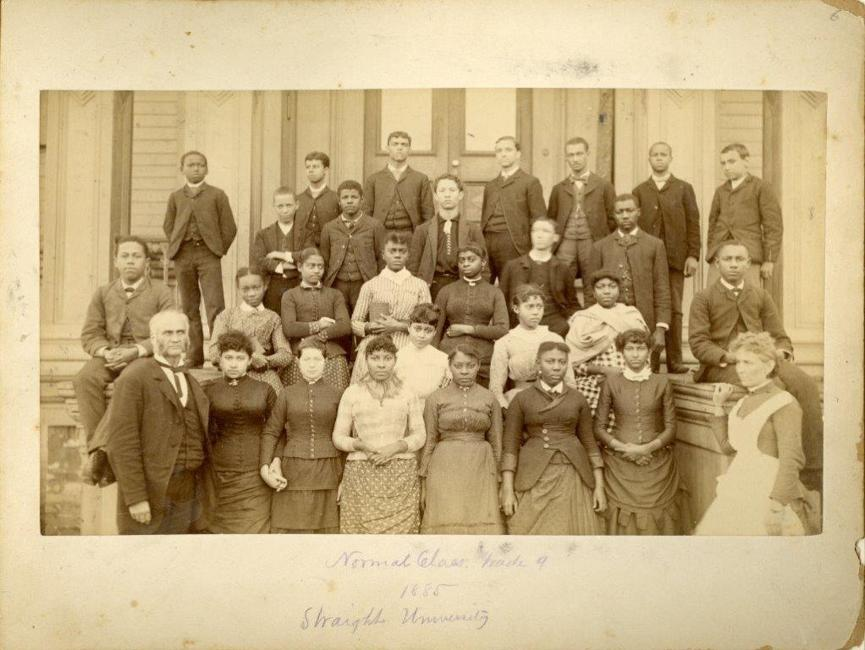Photo of the class of 1885, when Dillard was either Union Normal School or Straight University