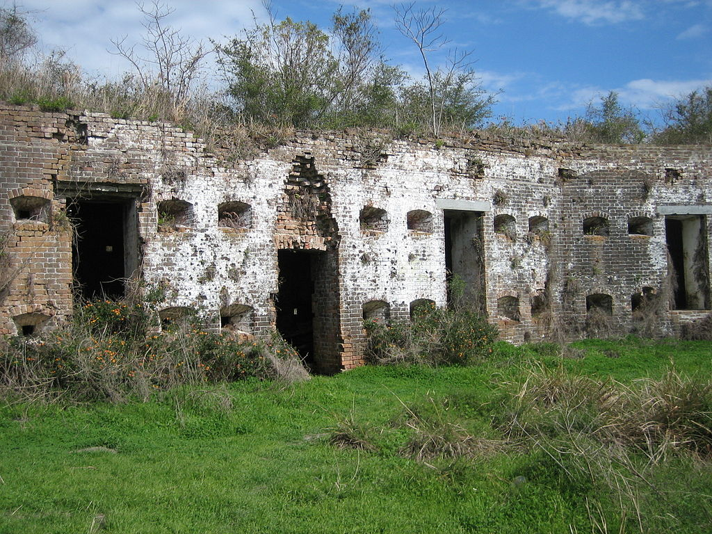Ruins as seen from interior