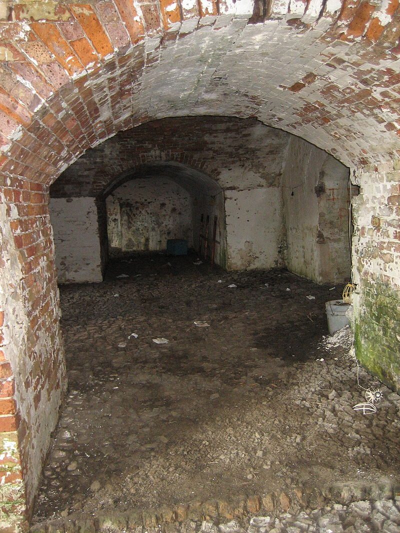 One of the archways of Fort Macomb