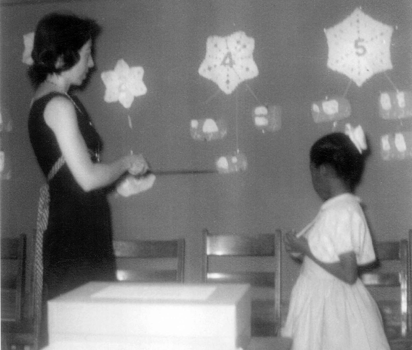 Ruby Bridges with Mrs. Barbara Henry. Ruby was Mrs. Henry's student at William Frantz for a time.