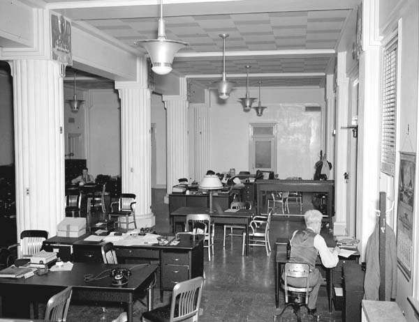 Jackson Barracks, January 20, 1937: Interior view of the Administration Building. Courtesy of Louisiana Division/City Archives, New Orleans Public Library