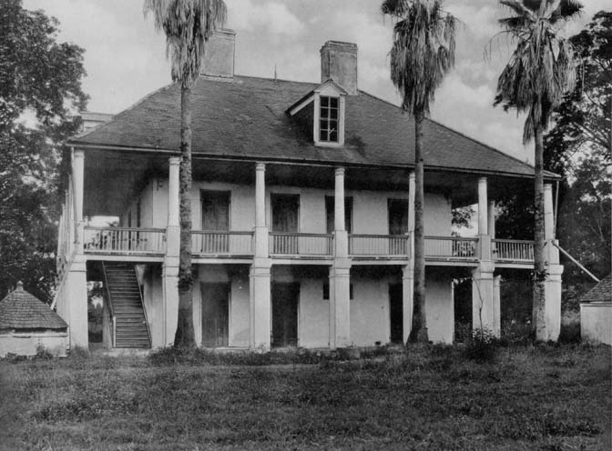 Jackson Barracks 1920s: Originally built as an old Plantation House, now rebuilt after Hurricane Katrina as Officers' Quarters. Courtesy of Louisiana Division/City Archives, New Orleans Public Library
