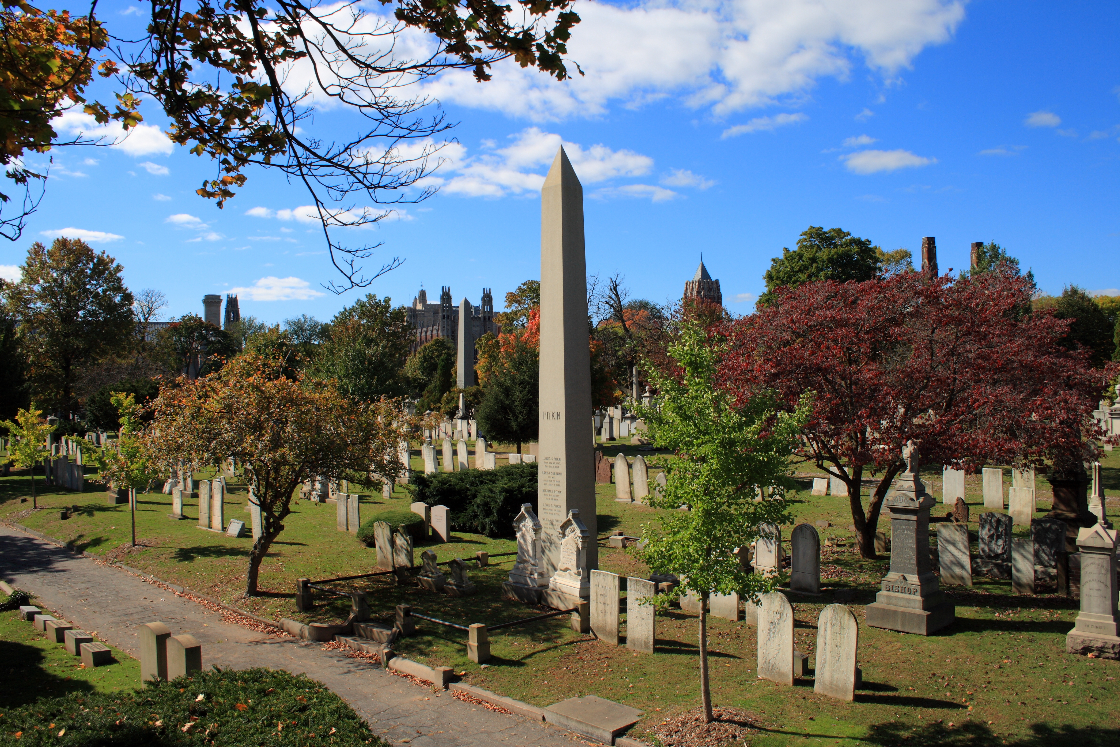 View of Grove Street Cemetery (source: Wiki commons)
