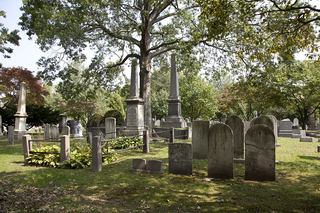 Family plots in the cemetery (source: Wiki commons)