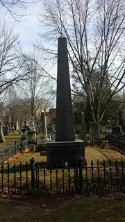 Noah Webster's grave (source: Burt Westermeier)