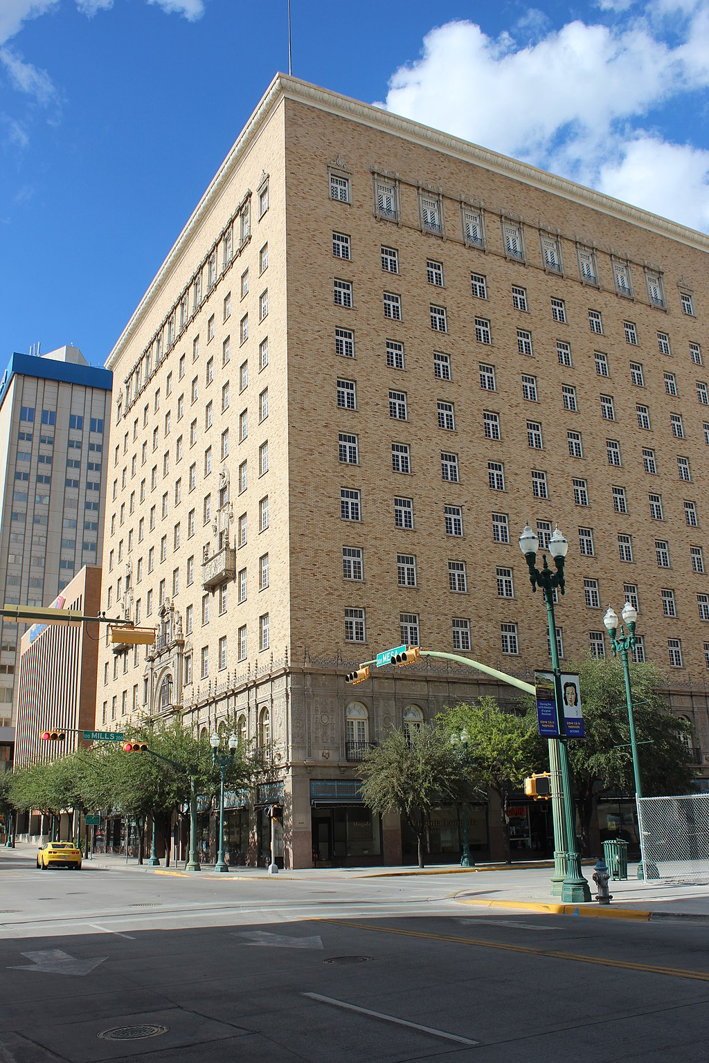 The Hotel Cortez was built 1926 and is a fine example of Spanish Colonial Revival architecture.
