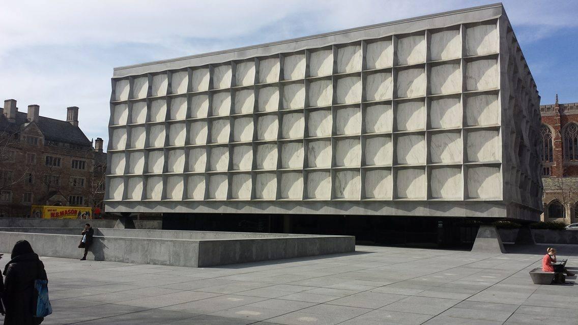 Beinecke Plaza (source: Burt Westermeier)