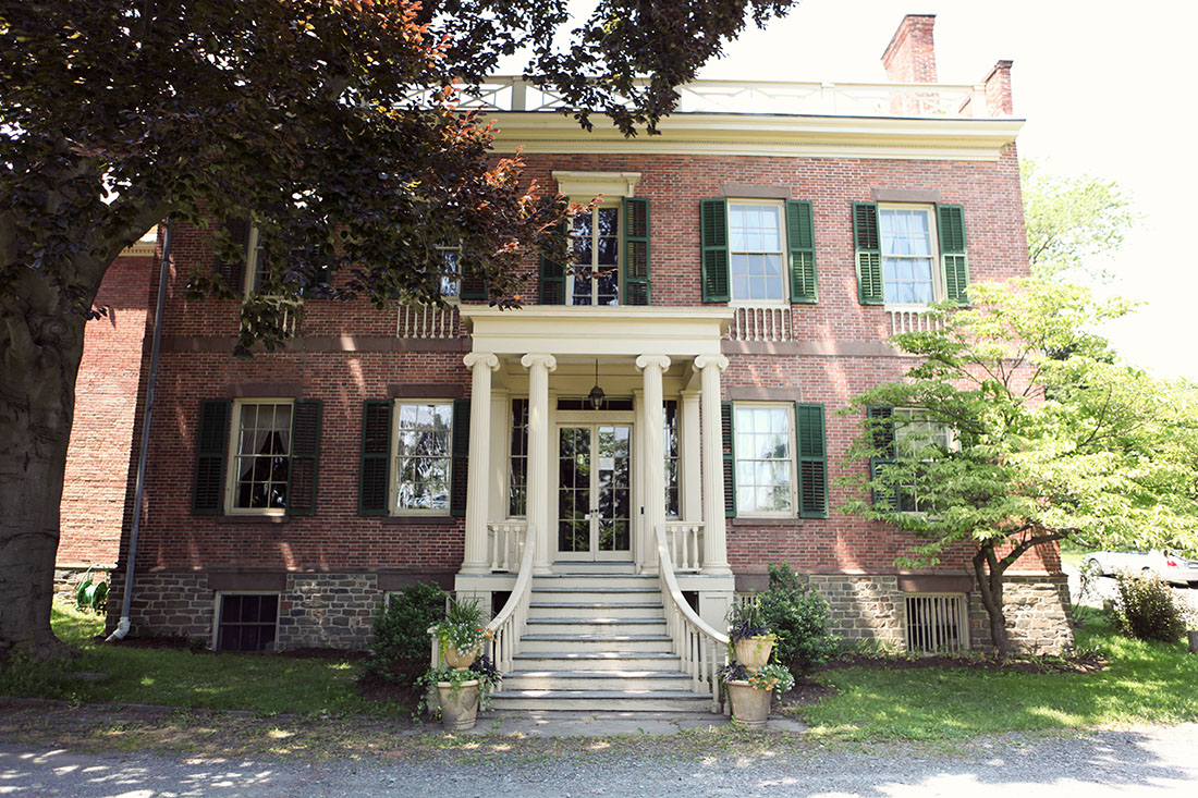 The Ten Broeck Mansion was completed in 1798 and later owned by the Olcott family for a century.