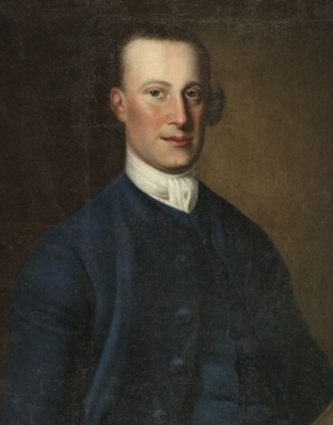 This portrait of Abraham Ten Broeck hangs within the mansion.