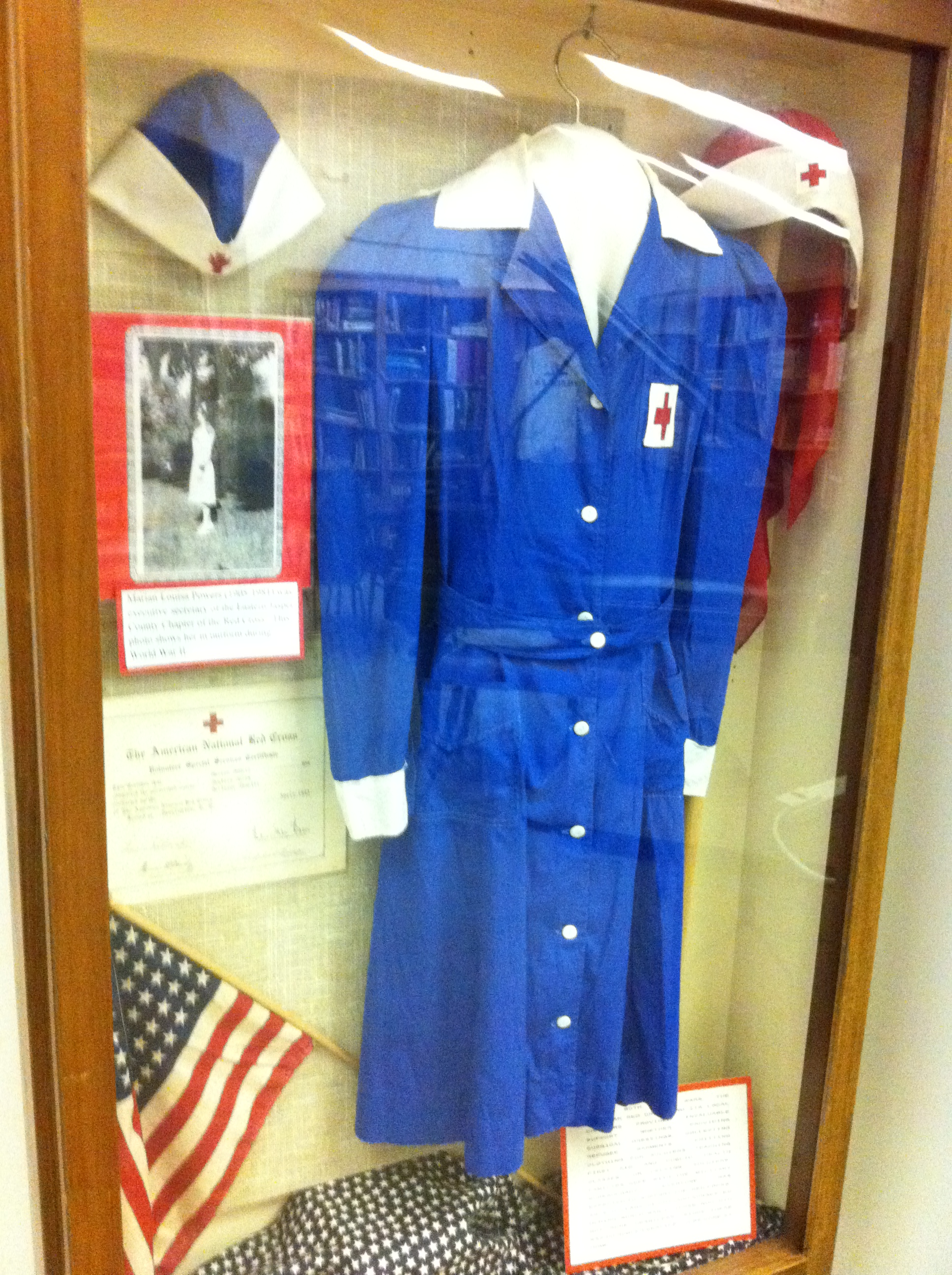 2016  Marian Powers Winchester's WWII Red Cross Service Display