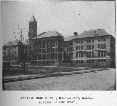 The 1899 school that was destroyed by fire in 1934 and replaced by Wyandotte High School