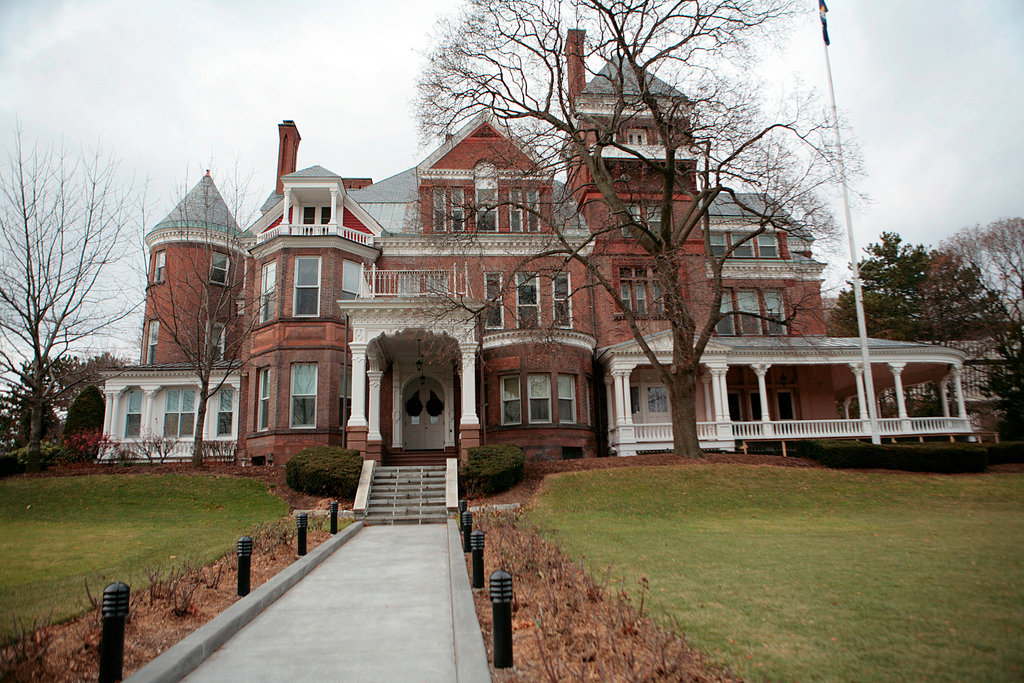 The Executive Mansion has grown since it was first built in 1856 as a private residence.