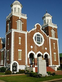 The Brown Chapel A.M.E. Church is the location where the March from Selma to Montgomery, AL began.