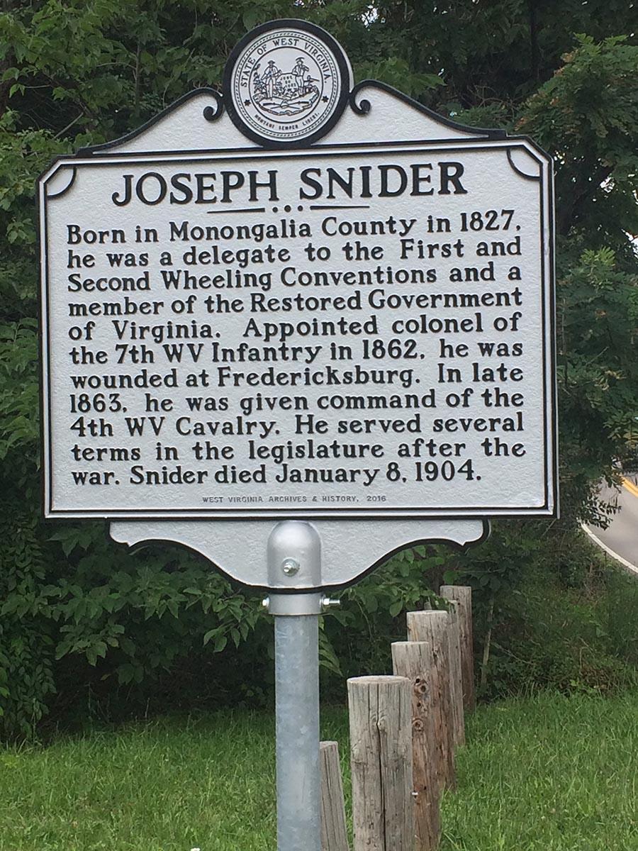 Joseph Snider Historical Marker