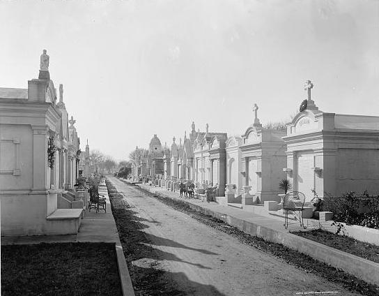 The cemetery in the late 1800s