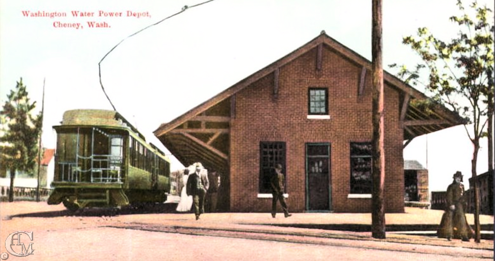 The passenger platform on Second Street and the freight platform at the rear of the depot.