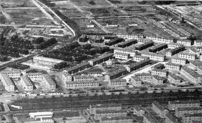 1953 aerial photo the Magnolia and Callipoe projects