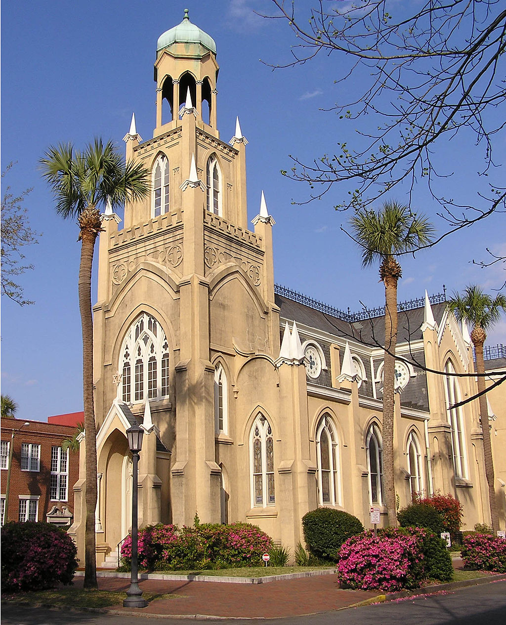 The Congregation Mickve Israel synagogue was built in 1878. Photo: Wikimedia Commons