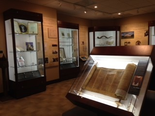 Some of the artifacts on display in the museum. Photo: Congregation Mickve Israel