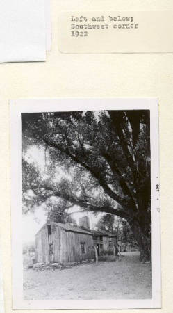 This photo was taken in 1922 of the second mission building that replaced the original mission after it was destroyed by fire in the 1830s.