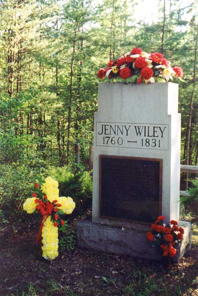 Jenny Wiley's new gravestone contains a plaque recounting the story of her captivity.