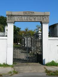 The cemeteries old gate and entrance