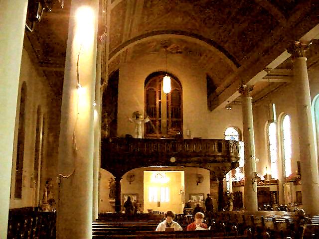 Interior of the church, facing organ