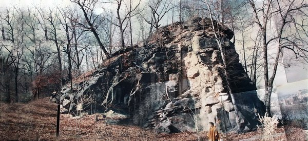 Panorama of the site before the construction of Top O' Rock. Courtesy of TopORock.net.