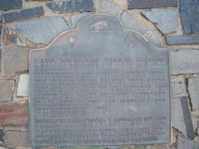 Lang Southern Pacific Station Marker