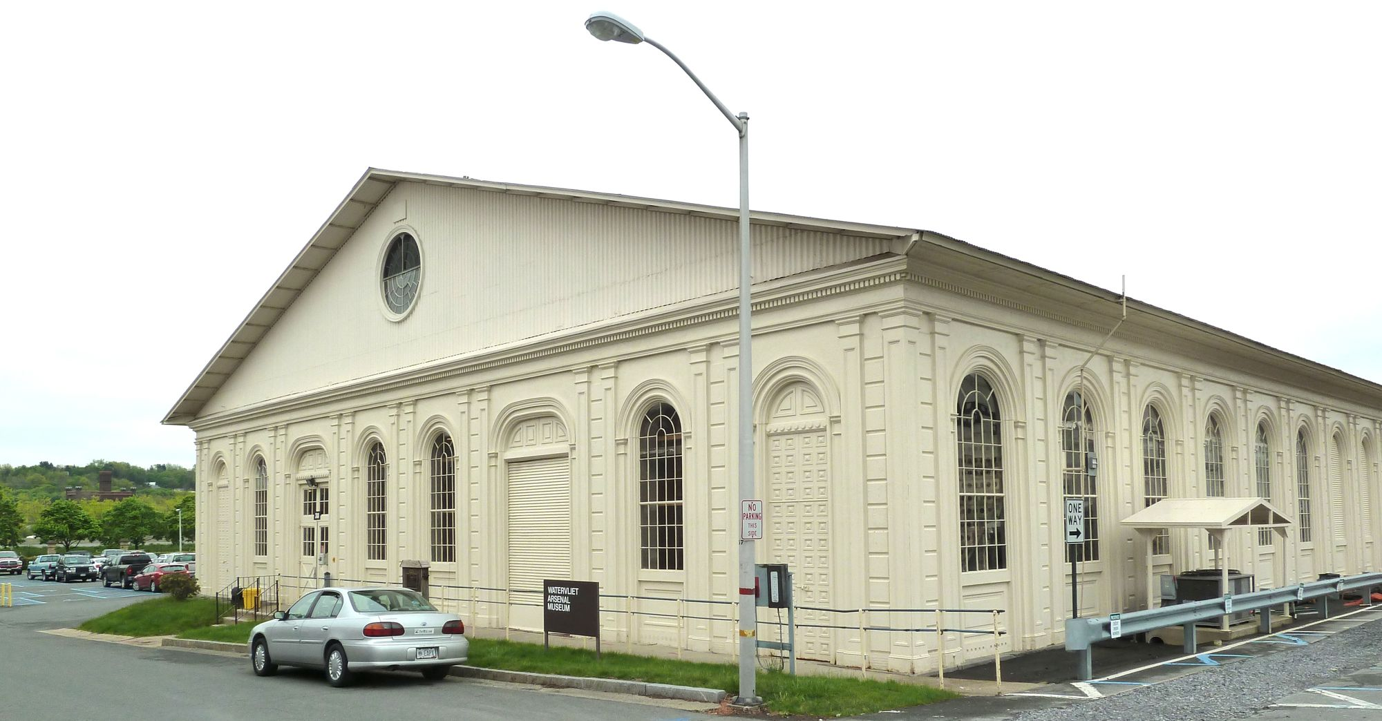 This is the Cast-Iron Building, built in 1859, that once housed the arsenal's museum.  It closed its doors in 2013.