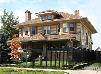 Carson lived at this home and became the first woman and first African-American to represent Indiana's 7th District. She served from 1997 until her death in 2007.