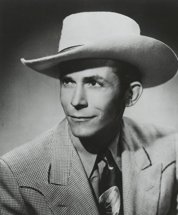 A portrait of Hank Williams Sr., who died at the age of 29.