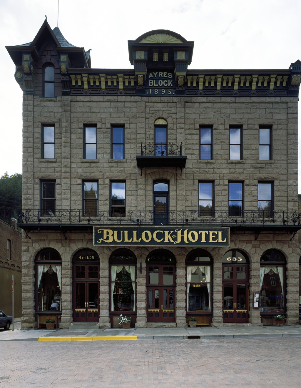 The Bullock Hotel was built in 1896. It is the oldest hotel in Deadwood.