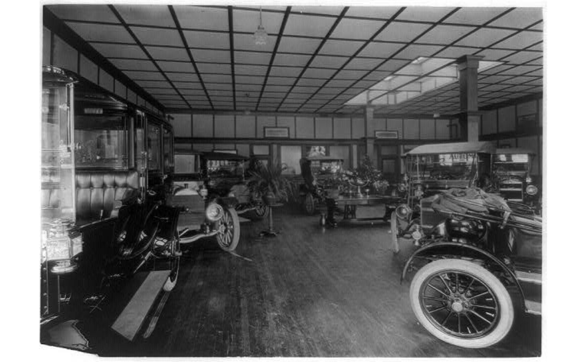 Source: Library of Congress - 1911 Maxwell Showroom