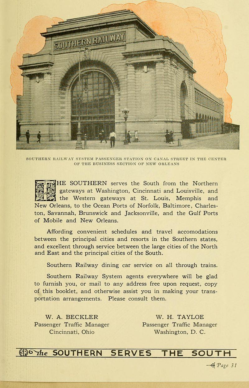 Circa 1920-1921 ad for the Southern Railway Freight Office