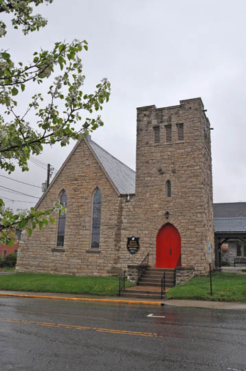 The Christ Episcopal Church is a contributing structure to the Blacksburg Historic District; image by Jerrye & Roy Klotz, MD - Own work, CC BY-SA 4.0, https://commons.wikimedia.org/w/index.php?curid=39584828