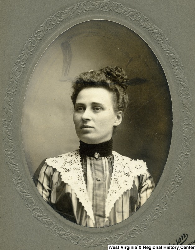 Undated portrait of Harriet Lyon, after whom Lyon Tower was named.  Photo courtesy of the West Virginia and Regional History Center, WVU Libraries.
