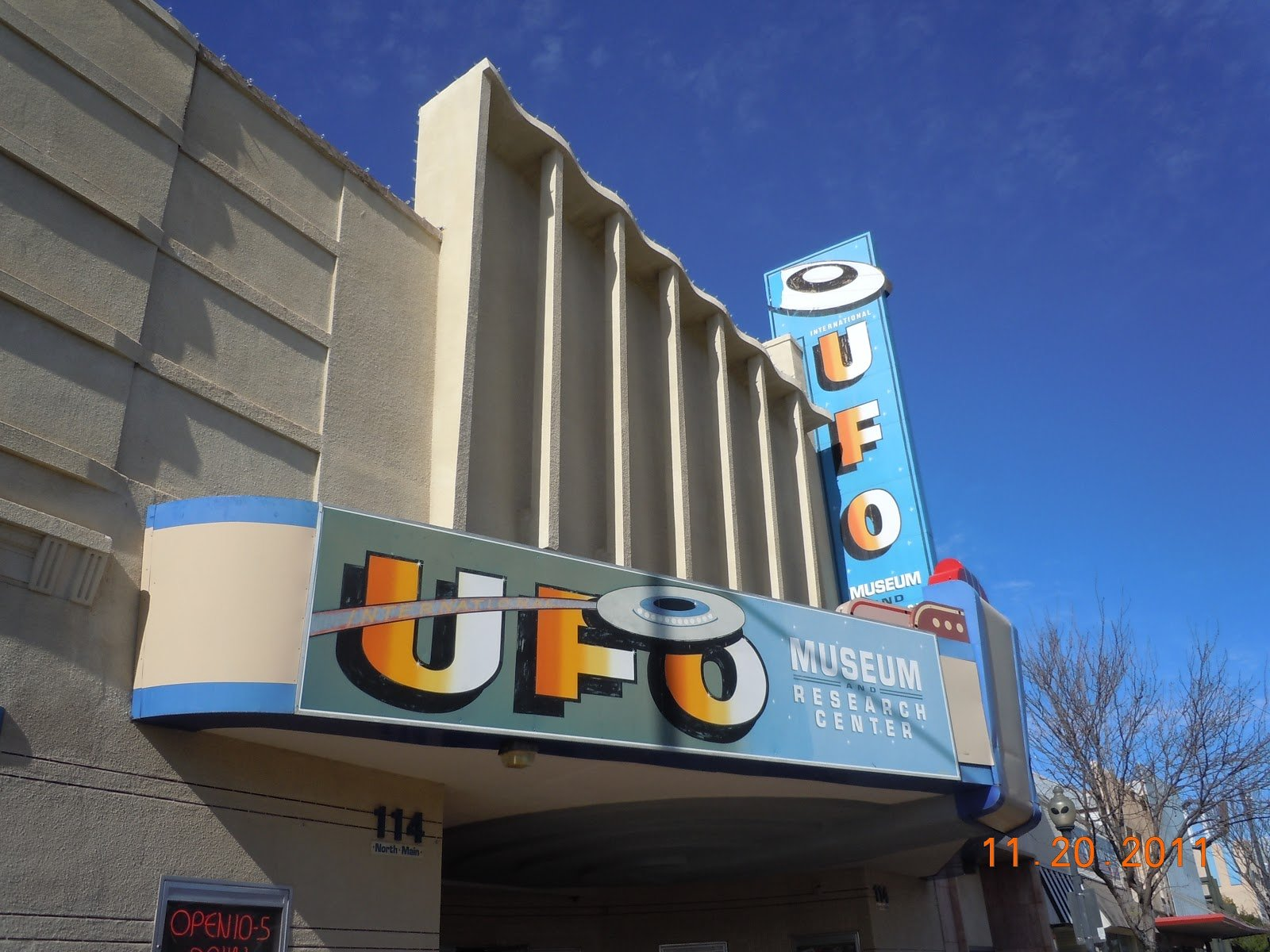 The museum is located in a former theater in downtown Roswell.