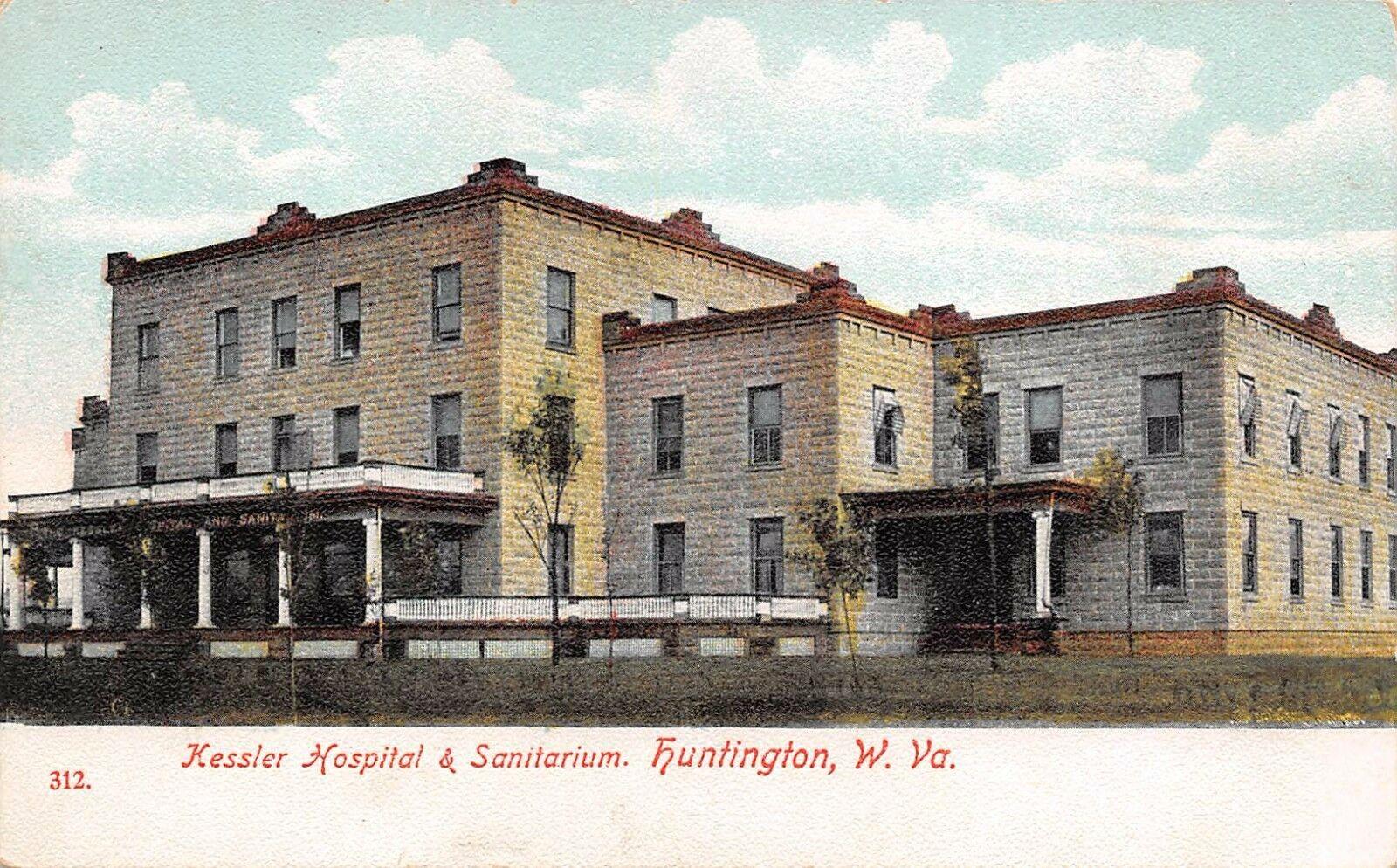 Postcard of the first Kessler Hospital and Sanitarium