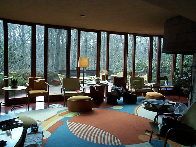 Interior of Robert Llewellyn Wright House, courtesy of Preservation Maryland (reproduced under Fair Use)